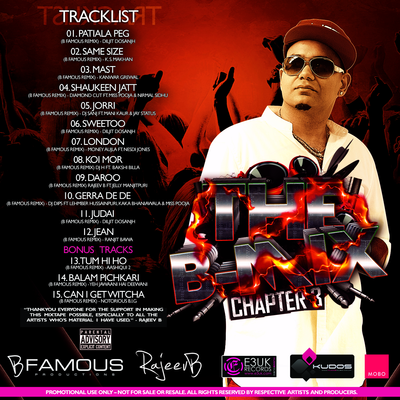 B Mix Chapter 3 - Tracklist